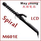 Encrespador de cabelo cerâmico espiral original da função cronometrando do tambor da manufatura