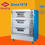 Oven van de Bakkerij van Hongling Elektrische 3 Dek 6 de Oven van Pannen