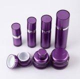 Bottiglia senz'aria della lozione del vaso crema acrilico viola di Set4 pp per l'imballaggio dell'estetica (PPC-CPS-043)