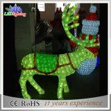 屋内3Dアクリルの大きい屋外のクリスマスのきらめきのトナカイの装飾ライト