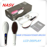 2016 Lately Item Professional Bienvenue OEM 75W Céramique Nasv Hair Straightener Brush