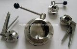 Neumático manual sanitario del acero inoxidable de la válvula de mariposa