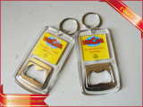Metal relativo à promoção Keychain Keychain de couro de borracha de Keychain da tela