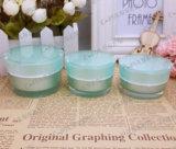 緑のアクリルの贅沢で装飾的な包装のクリーム色の瓶(PPC-ACJ-061)
