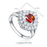 숙녀 (R-0605)를 위한 매력적인 모조 다이아몬드 은 반지 보석