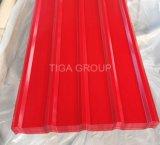 Покрынная цветом застекленная плитка шага металла Roofing/PPGI для конструкционных материалов