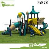 Campo de jogos ao ar livre dos miúdos quentes do Branco-Cabelo da venda com corrediça plástica