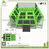 小型大きさで分類された屋内自由な跳躍の空気トランポリン公園