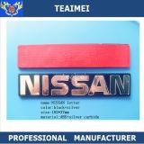 O cromo feito sob encomenda Nissan do ABS da alta qualidade rotula o emblema