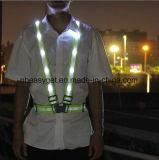 LED 사려깊은 조끼, 3개의 최빈값 USB 재충전용 LED 빛 & 사려깊은 줄무늬 - 360 도 높은 시정 밤 안전 조끼, 조정가능한 크기 보편적인 Esg10238