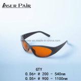 protection d'oeil du laser 532nm&1064nm pour le laser de ND YAG, les lasers d'épilation et les lasers à commutation de Q de déplacement de tatouage
