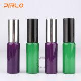 25mlの緑および紫色カラーガラス香水スプレーのびん