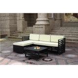 O sofá modular da mobília do pátio ajustou-se com tabela