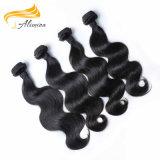 Cabelo humano chinês não processado da venda por atacado do pacote do cabelo de Remy do Virgin