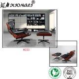 H333 오토만을%s 가진 현대 Leasure 사무실 가죽 Eames 라운지용 의자