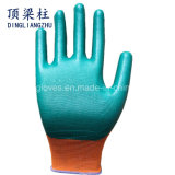 13 de Handschoen van het Werk van de Polyester van de maat met Nitril in China met een laag dat wordt bedekt dat