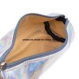 ホログラムレーザーPUの革ペンの洗面用品の構成の化粧品袋