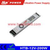 12V16A超薄いLEDの電源またはライトボックスまたは適用範囲が広いストリップ