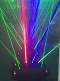 8 Kopf-Spinnen-bewegliches Kopf-Laserlicht