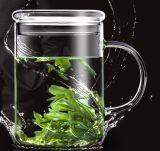 Glace en verre de boissons de cuvette de thé de résistance thermique pour la vente en gros