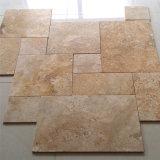 Tegel van de Vloer van de Travertijn van het Patroon Versaille van het Kalksteen van China de Franse