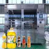 Bottiglia del PE, macchina di rifornimento dell'olio di oliva della bottiglia di vetro/olio da cucina con elettrico guidato