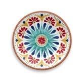 Jeu de dîner de mélamine de médaillon Vaisselle-Multicolore