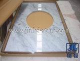 Белый/Multicolor мраморный Countertop для кухни/ванной комнаты/гостиницы