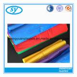 Buntes HDPE Plastikabfall-Beutel auf Rolle oder Satz