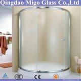 6mm 8mm 10mm moderou o vidro decorativo gravado ácido da porta do banheiro