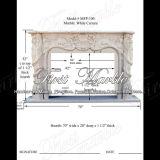 Cheminée blanche de Carrare pour la décoration et les meubles à la maison Mfp-100