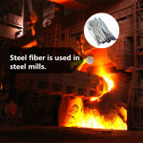 Derretir fibra extraída de acero inoxidable