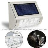 Patio trasero solar del detector de movimiento que enciende el montaje solar al aire libre de la pared de las luces