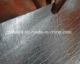 Membrane imperméable à l'eau de bitume auto-adhésif de surface de clinquant d'Aluminun pour le toit concret
