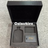 Boîte-cadeau étonnante d'étalage d'emballage de papier de noir de parfum d'homme