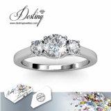 Het Kristal van de Juwelen van het lot van Swarovski Drie de Briljante Ring van de Steen
