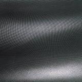 Cuir de chaussure argenté noir en cuir de PVC de conformité d'or de GV