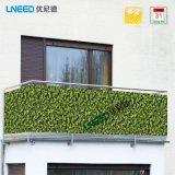 Pantalla ULTRAVIOLETA los 0.9m*6m Buchsbaum de la cerca de la cubierta de la aislamiento del balcón de la alta calidad