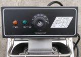 friggitrice ad immersione elettrica ad un solo serbatoio delle patatine fritte dell'acciaio inossidabile 6L
