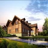 Visualización arquitectónica residencial del estilo europeo con el trabajo exquisito