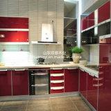 Gabinetes de cozinha baratos da melhor alta qualidade nova do projeto da venda com porta de madeira