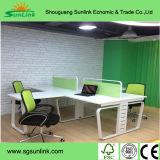 Populäre gerade Konstruktionsbüro-hölzerne Möbel mit dem Edelstahl-Bein