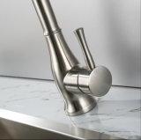 Faucet material da cozinha da alavanca do aço inoxidável único