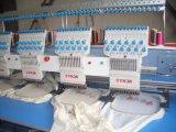 Máquina del bordado de las camisetas del casquillo plano