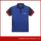 Polyester personnalisé annonçant les chemises de polo bon marché (P28)