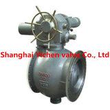Válvula de esfera da excentricidade pneumática da flange meia