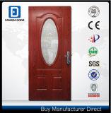 Porte extérieure teck rouge ovale enduit protecteur de PVC de Fangda de petit