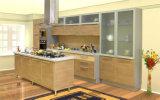 Gabinete 2017 de cozinha lustroso elevado UV de madeira do MDF de Cutomized (ZX-035)