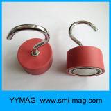 Крюк c красного магнита Rubber&Neodymium вися