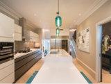 Gabinete de cozinha elevado branco personalizado de Lacqure do lustro